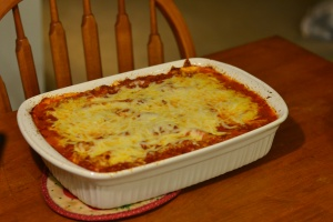 finished lasagna
