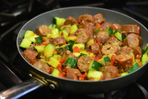 zucchini and sausage