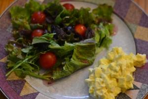 egg salad dinner