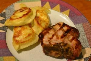 pork and pierogi