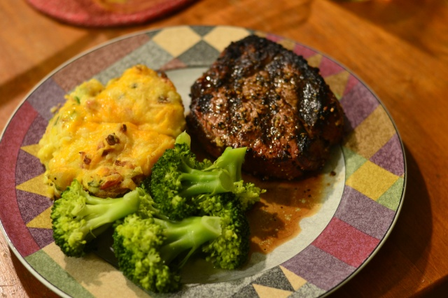 steak and twice baked3