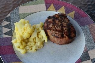 steak and cauliflower