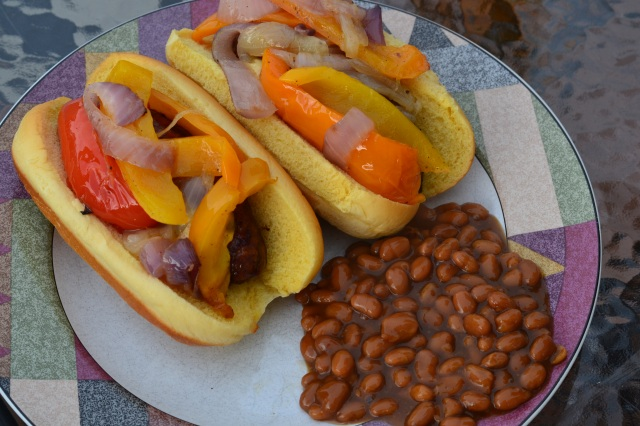 brats and beans