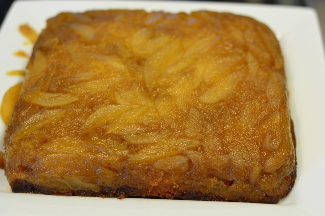 Maple Pear Upside Down Cake
