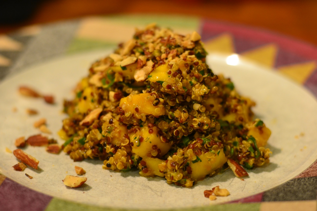 quinoa mango salad with curry dressing   Pickled Sweet