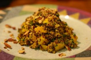 quinoa mango salad with curry dressing