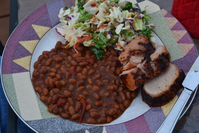 pork and baked beans